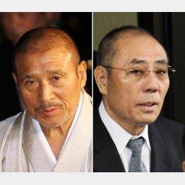 山口組6代目の司忍組長(左)と神戸山口組の井上邦雄組長