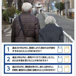 3つの項目に「いいえ」なら加入可(C)日刊ゲンダイ