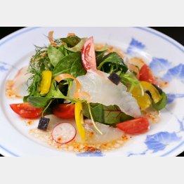 みかん鯛を使った料理(提供写真)
