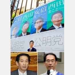 関口昌一(左)と大野元裕(C)日刊ゲンダイ