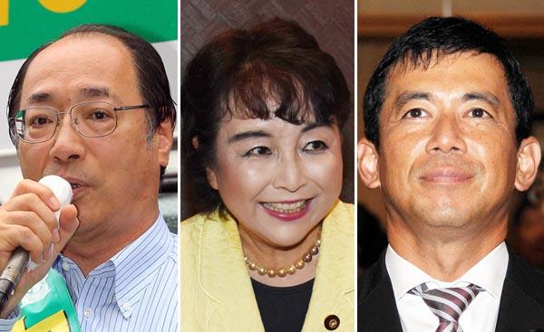 左から自民党の中川、猪口、中西議員(C)日刊ゲンダイ