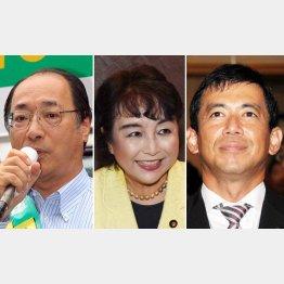 左から自民党の中川、猪口、中西議員