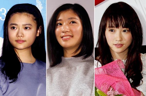 左から杉咲花・相楽樹・川栄李奈(C)日刊ゲンダイ