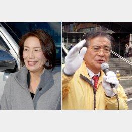 農業票も固める徳永(左)と知名度バツグンの鉢呂/(提供写真)