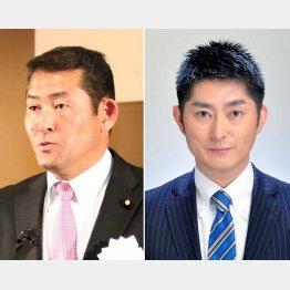 元巨人の石井浩郎(左)と松浦大悟/(提供写真)