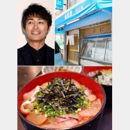安田顕が通った「魚料理のじま」の天然ぶり丼(提供写真)
