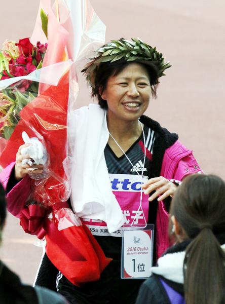 大阪国際女子マラソンでは好タイムで優勝(C)日刊ゲンダイ