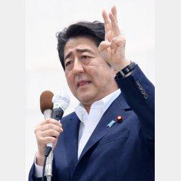 テレビ討論でブチ切れた安倍首相(C)日刊ゲンダイ