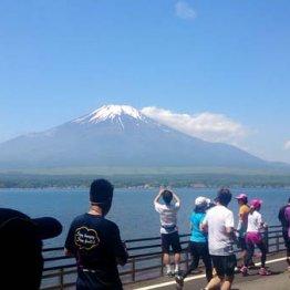 マラソン中に「富士さんだぁ…」<山中湖>