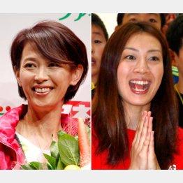 「サンデースポーツ」の有森裕子(左)と「報ステ」の寺川綾