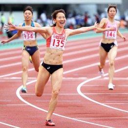 福島千里は200メートル女子を日本新記録で優勝(C)日刊ゲンダイ