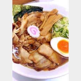 「麺屋にぼすけ」の『煮干し肉中華そば』/(提供写真)