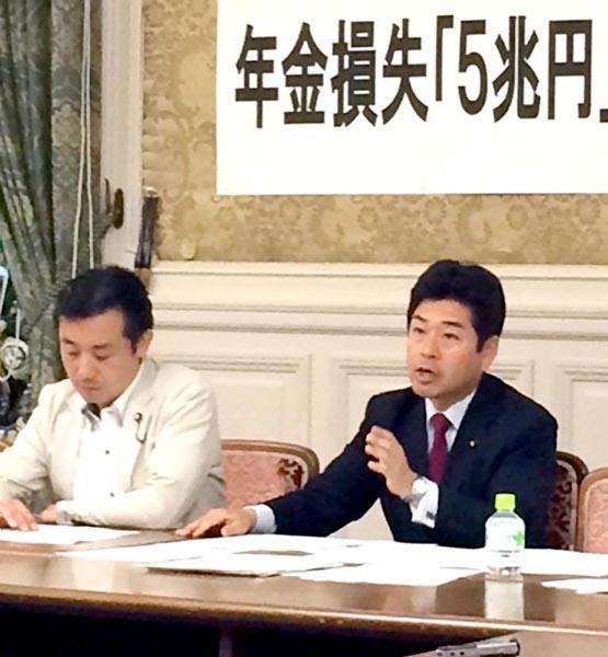 民進党は「損失隠し」と猛批判(C)日刊ゲンダイ