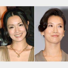 長谷川京子(左)も戸田菜穂も私生活では2児の母