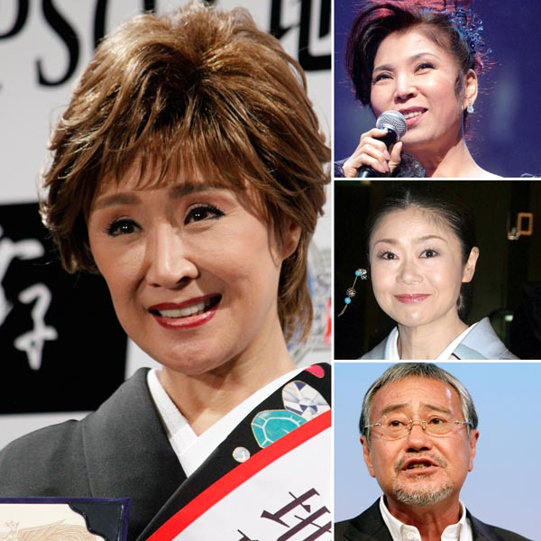 左から時計回りに、小林幸子、八代亜紀、神野美伽、吉幾三(C)日刊ゲンダイ