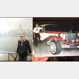 日付は2009年・自称39歳(左)、右の車は自分の車だというが…/(提供写真)