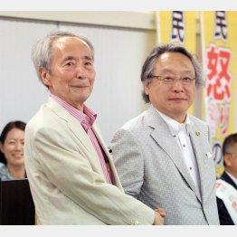 樋口陽一東大名誉教授(左)と小林節氏/(C)日刊ゲンダイ