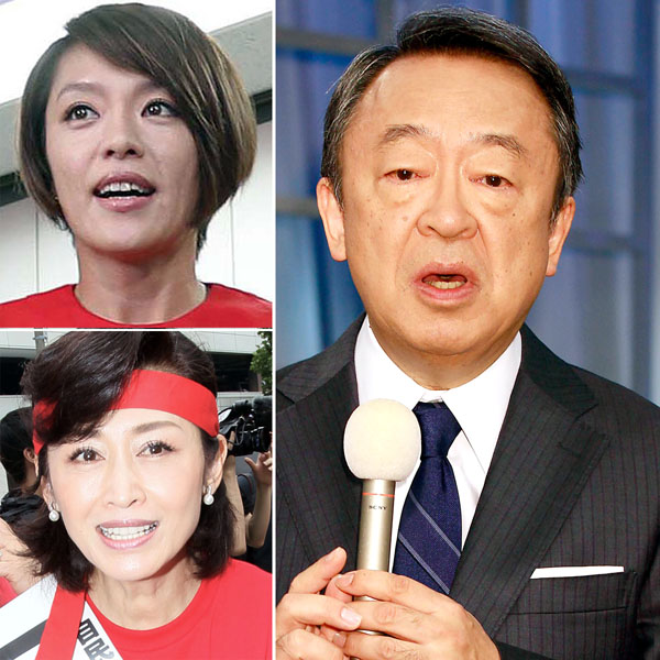 切れ味抜群の池上彰氏(左は今井絵理子、三原じゅん子)/(C)日刊ゲンダイ