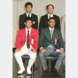 世界選手権を制した永瀬(左前)