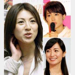 左から時計回りに、雨宮塔子、桐谷美玲、大江麻理子