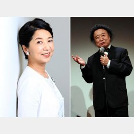 デビューのきっかけは写真家・篠山紀信(右)