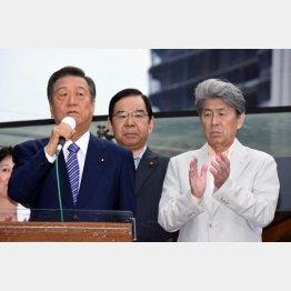 これでいいのか(左から、街頭演説をする小沢、志位、鳥越各3氏)/(C)日刊ゲンダイ