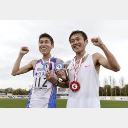 第71回びわ湖毎日マラソン大会での北島選手と石川選手