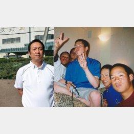 藤原弘介佐久長聖監督(左)と3年センバツ出場時のオフショット(提供写真)