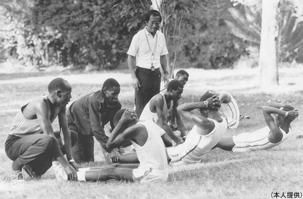 77年ナイロビの競技会にて(提供写真)