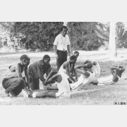77年ナイロビの競技会にて