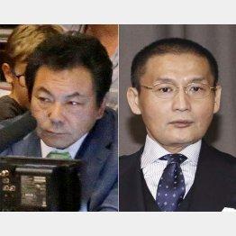 今年1月場所で解説を務めた故・九重親方(左)と貴乃花親方(C)日刊ゲンダイ