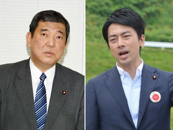 石破・地方創生相(左)と小泉進次郎氏/(C)日刊ゲンダイ
