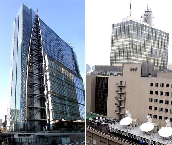 日テレ(左)の裏番組で公開討論会を行うNHK(右)/(C)日刊ゲンダイ