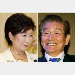 小池新知事に冷たい対応で川井議長(右)は総スカン