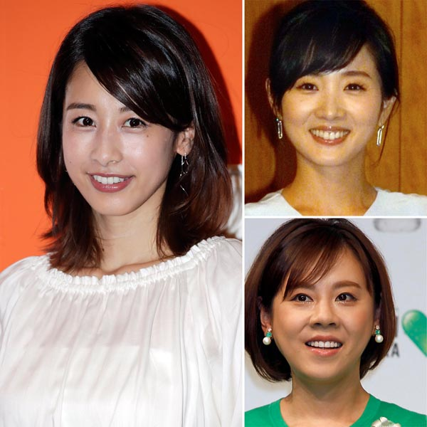全員フジテレビ出身(左から時計回りに)加藤綾子、高島彩、高橋真麻(C)日刊ゲンダイ