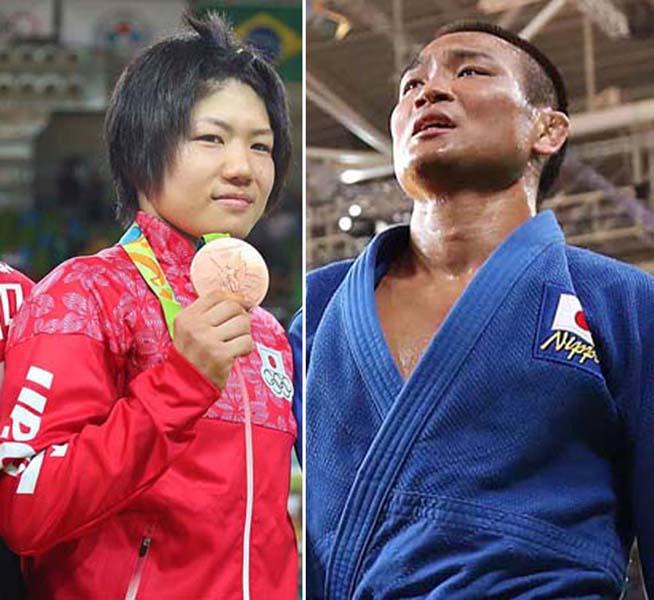 中村美里(左)と海老沼匡も銅メダルに終わった(C)真野慎也/JMPA