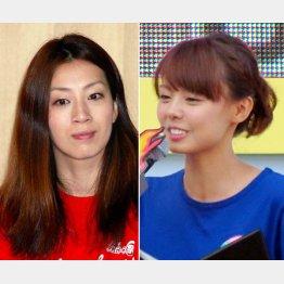寺川綾(左)とフジ宮澤アナ