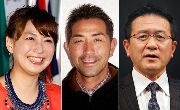 (左から)小椋久美子、G・G・佐藤、瀬古利彦(C)日刊ゲンダイ