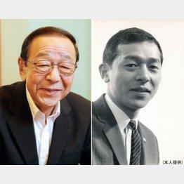 左はフジテレビ新人時代、初任給3万円は「高い方でした」