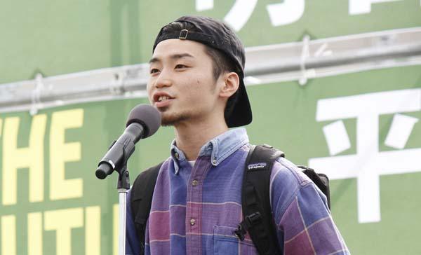 中心メンバーだった奥田愛基さん(C)日刊ゲンダイ