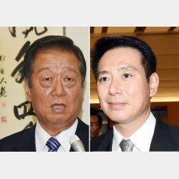 小沢一郎氏(左)と前原誠司氏