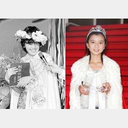 沢口靖子(左)と前回グランプリの上白石萌音