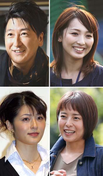 (左から時計回りに)堀潤、宮瀬茉祐子、上田まりえ、阿部哲子(C)日刊ゲンダイ