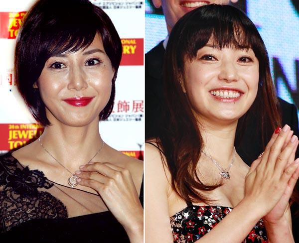 松嶋菜々子(左)と菅野美穂(C)日刊ゲンダイ