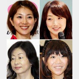 左上から時計回りに、潮田玲子、岩崎恭子、高橋尚子、山口香