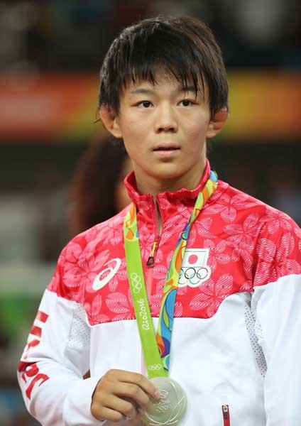 レスリング57キロ級で銀メダル(C)真野慎也/JMPA