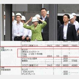 豊洲新市場を視察する小池都知事(C)日刊ゲンダイ