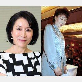 高畑淳子(左)と98年、次男の覚醒剤逮捕で会見する三田佳子