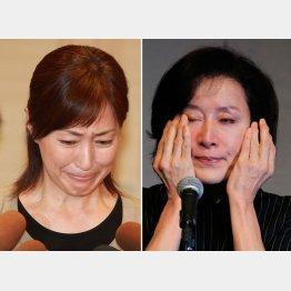 高島礼子(左)も高畑淳子も涙の会見