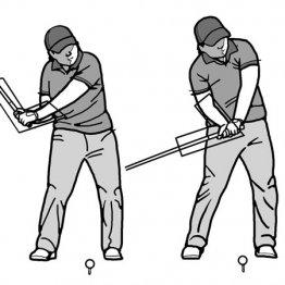 ダウンで手首のコックをキープするとヘッドスピードが効率よく上がる